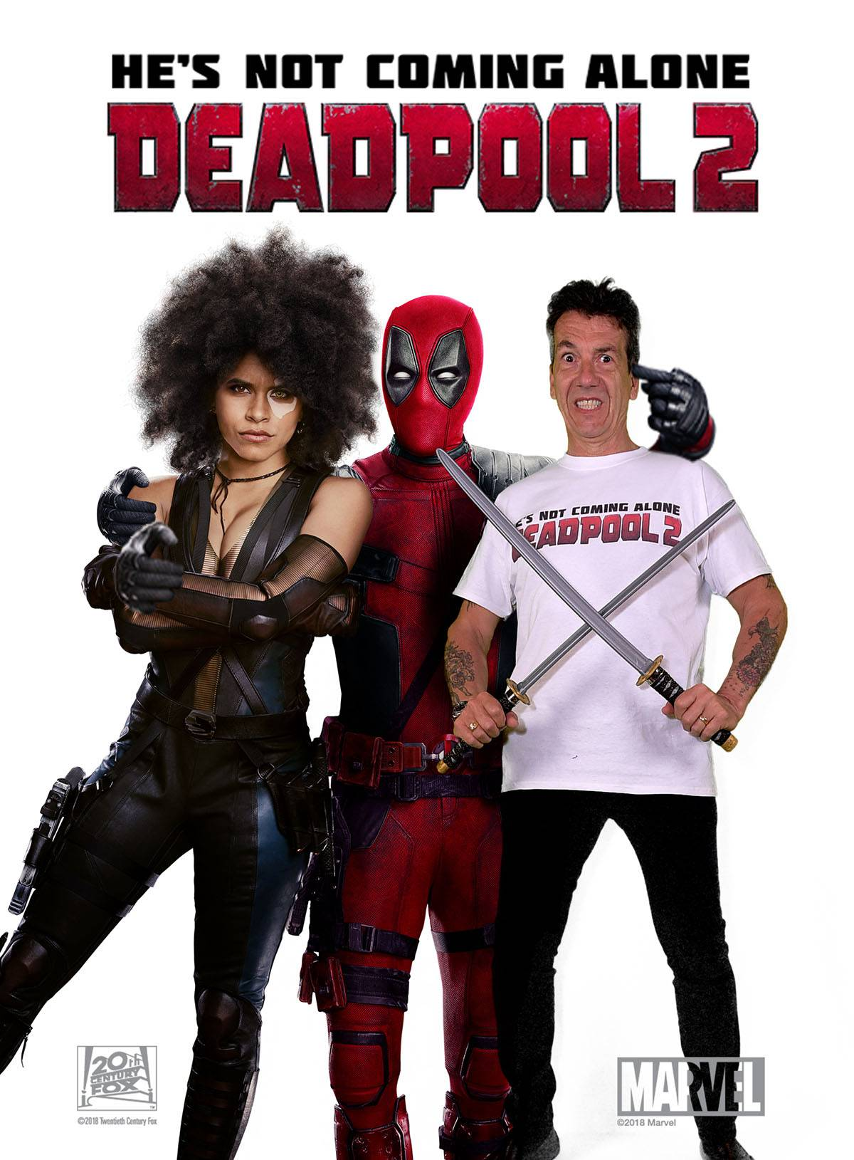 Green screen Photos from Deadpool 2 Premiere
