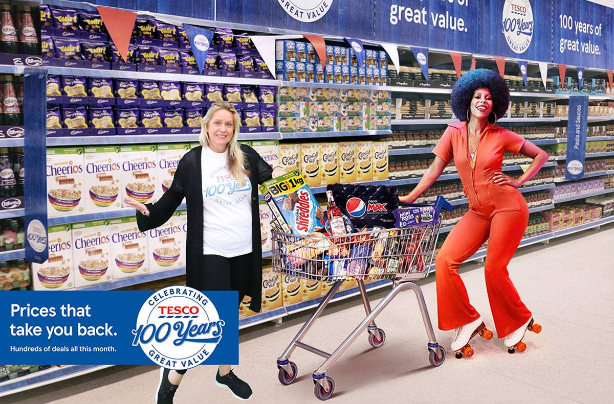 Tesco Stores 150 anniversary green screen photos