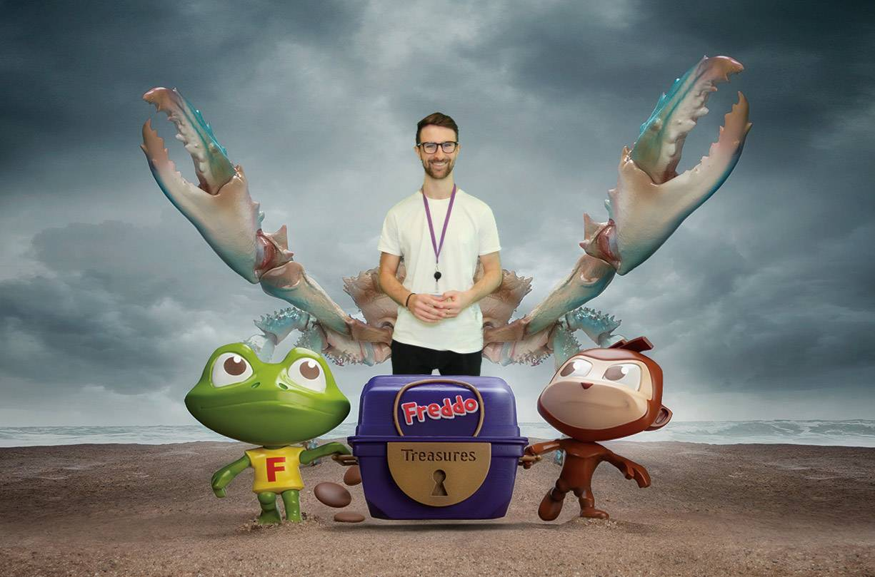 green screen Freddo the frog from Cadbury HQ job