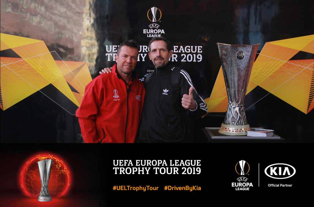UEFA Trophy photography with instant prints and social sharing