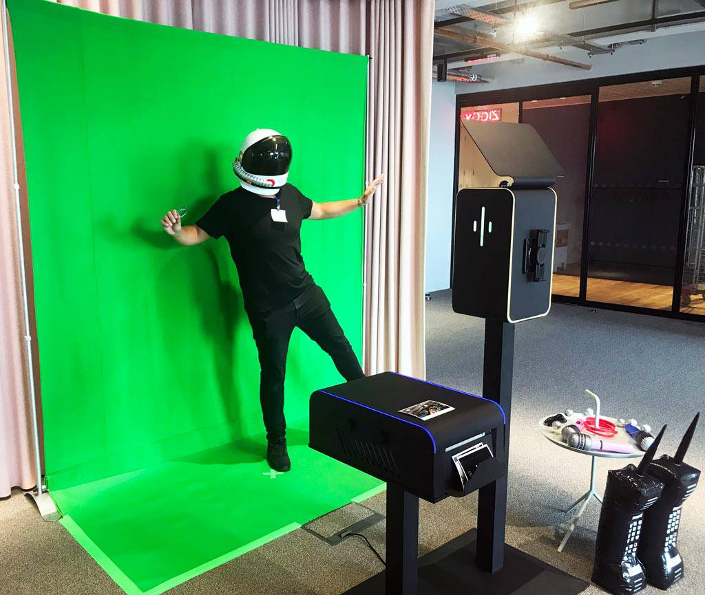 green screen photos at Google HQ